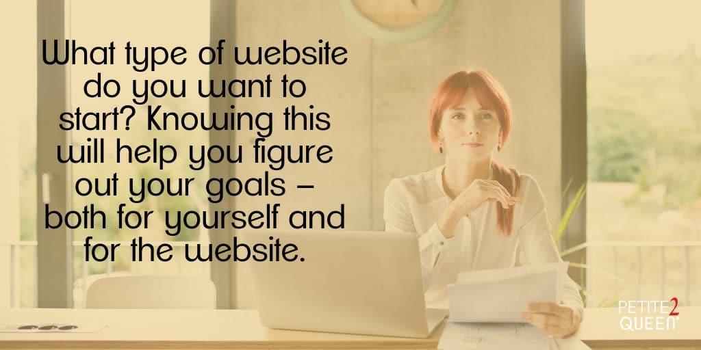 Start a Website - Know Your Goals