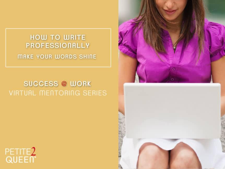 How to Write Professionally Webinar