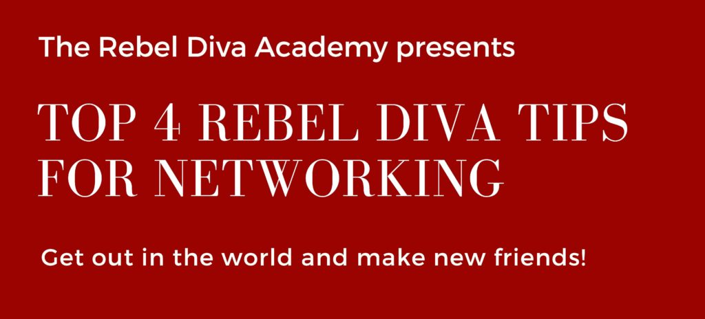 Rebel Diva Networking Tips - A Rebel Diva infographic Tikiri Herath