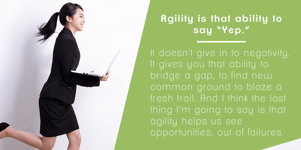 Skill #8 - How to Use Agility to Pivot and Share New Wins